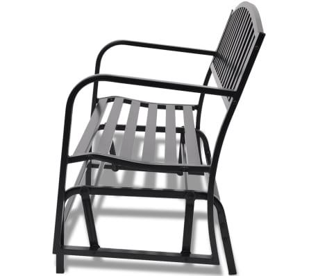 vidaXL Swing Bench Black Steel[4/8]