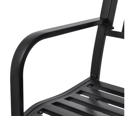 vidaXL Swing Bench Black Steel[7/8]