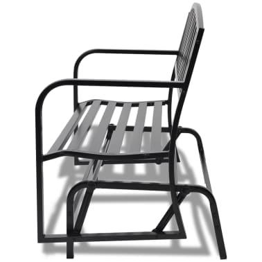 vidaXL Swing Bench Black Steel[5/8]