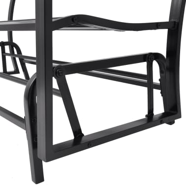 vidaXL Swing Bench Black Steel[6/8]