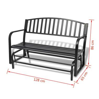 vidaXL Swing Bench Black Steel[8/8]