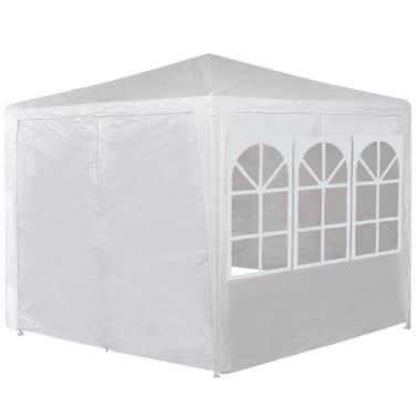 vidaXL Partytent met 6 zijwanden 2x2 m wit[3/13]