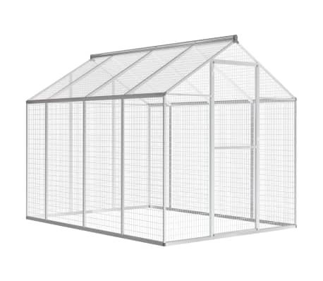 vidaXL udendørs voliere aluminium 178x242x192 cm