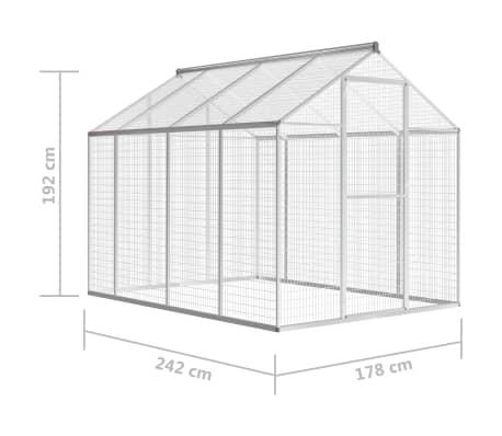 vidaXL Außenvoliere Aluminium 178x242x192 cm[5/5]