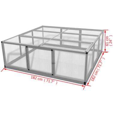 """vidaXL Chicken Coop Aluminum 71.7""""x71.7""""x24""""[5/5]"""