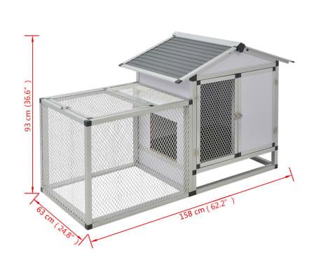 """vidaXL Chicken Coop Aluminum 62.2""""x24.8""""x36.6""""[8/8]"""