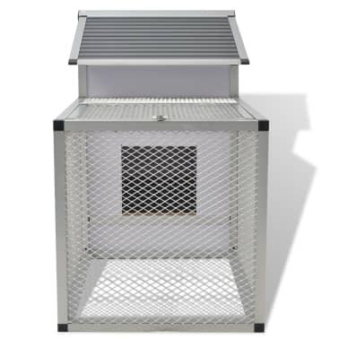 """vidaXL Chicken Coop Aluminum 62.2""""x24.8""""x36.6""""[4/8]"""