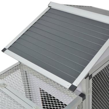 """vidaXL Chicken Coop Aluminum 62.2""""x24.8""""x36.6""""[5/8]"""