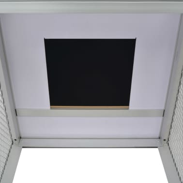 """vidaXL Chicken Coop Aluminum 62.2""""x24.8""""x36.6""""[6/8]"""