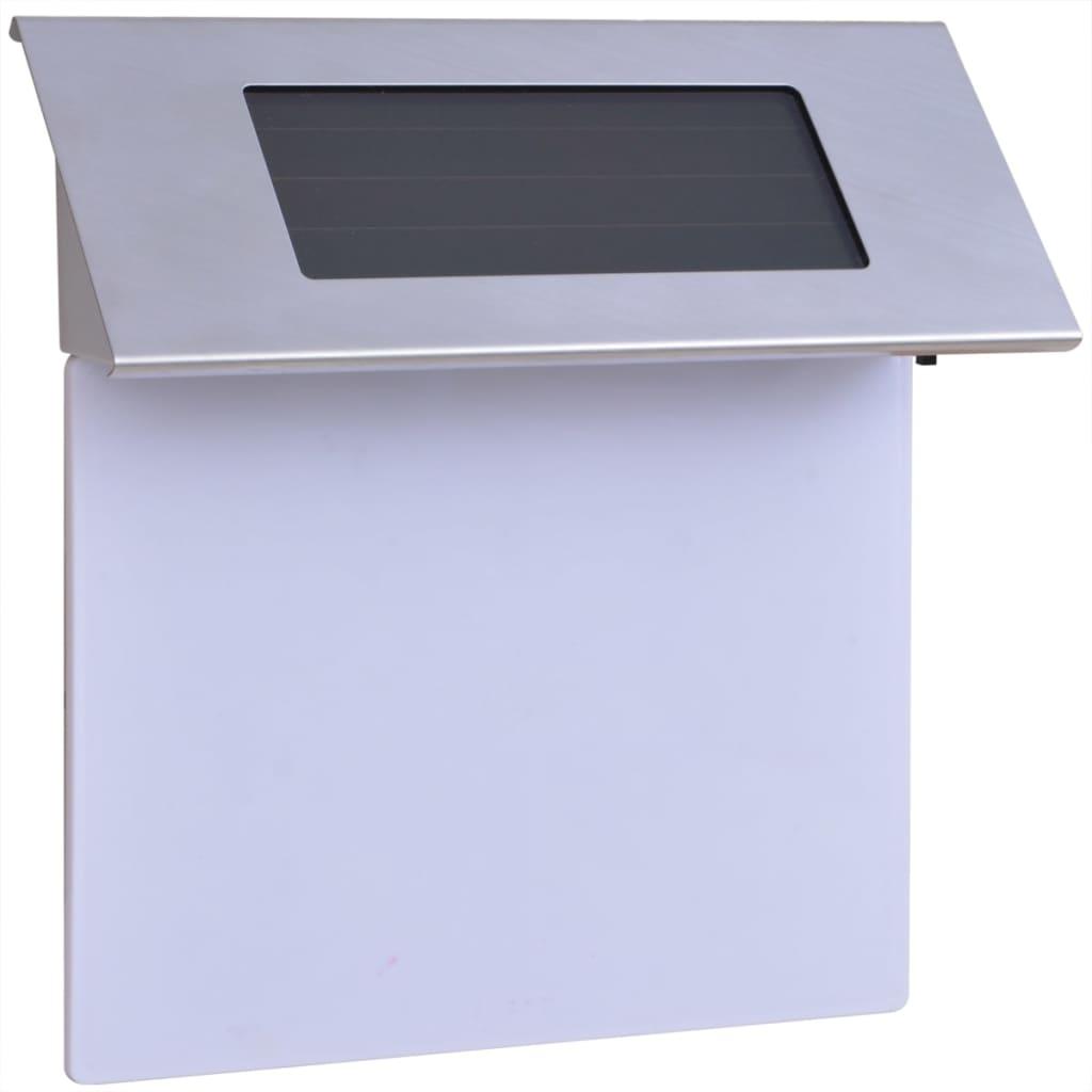vidaXL Φωτιστικό LED Ηλιακό με Αριθμό Διεύθυνσης Ανοξείδωτο Ατσάλι
