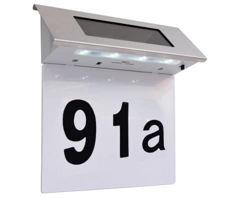 vidaXL Solarna LED Svjetiljka za Kućanski Broj Nehrđajuće Željezo[2/5]