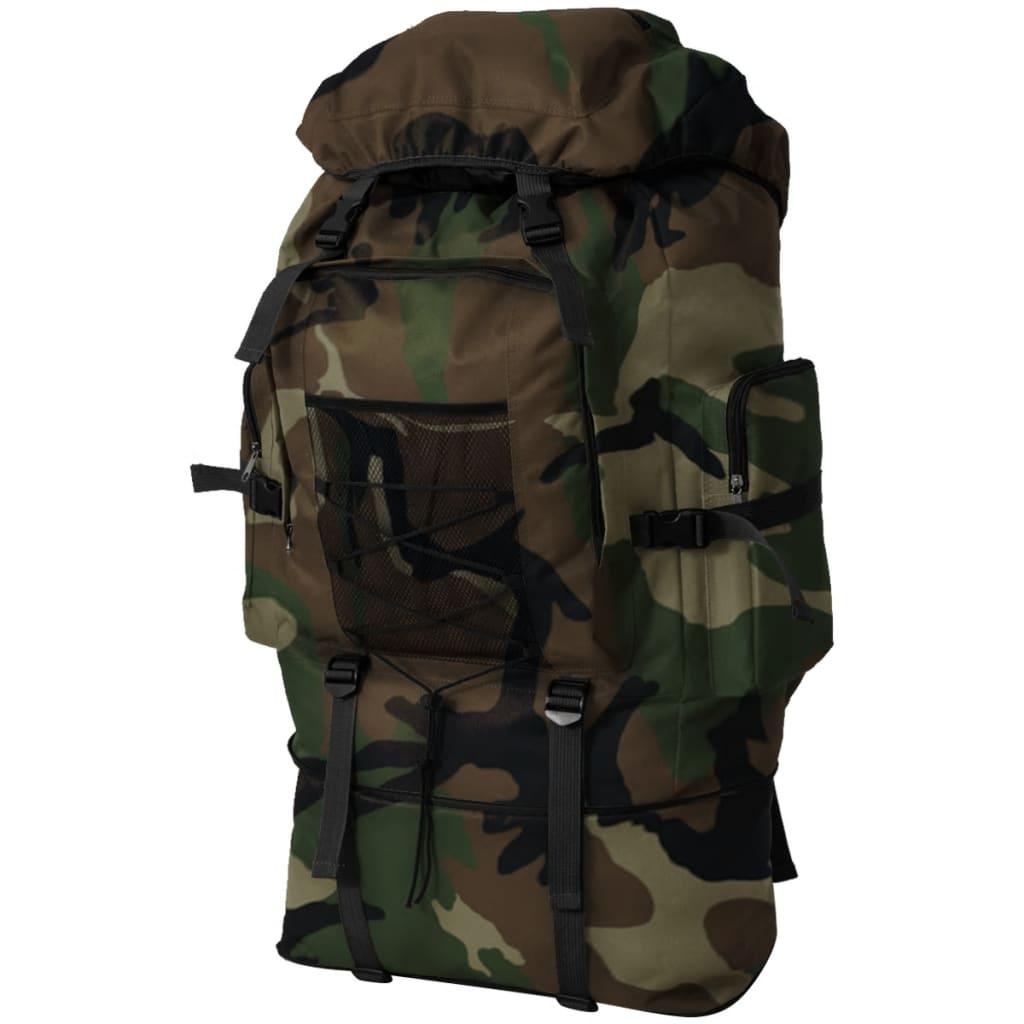 vidaXL Batoh v army stylu XXL 100 l maskáčový