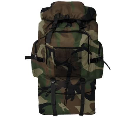 vidaXL militaristinio stiliaus XXL kamufliažo spalvos 100 l talpos kuprinė[2/6]