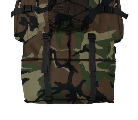 vidaXL Army-Style Backpack XXL 100 L Camouflage[5/6]