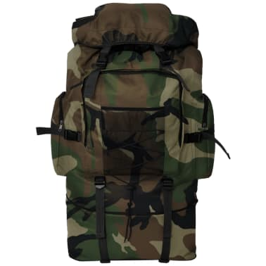 vidaXL Army-Style Backpack XXL 100 L Camouflage[2/6]