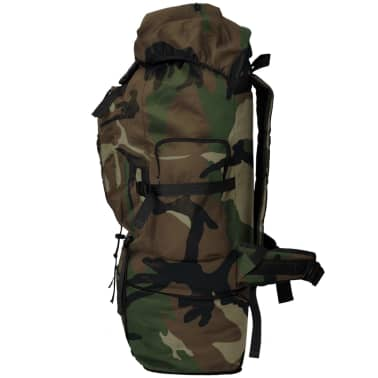vidaXL Army-Style Backpack XXL 100 L Camouflage[3/6]