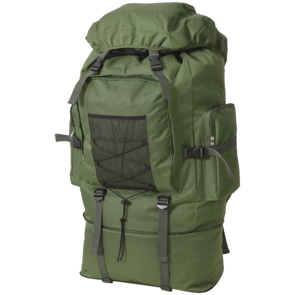vidaXL Batoh v army stylu XXL 100 l zelený