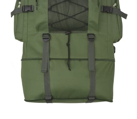 vidaXL Army-Style Backpack XXL 100 L Green[5/6]