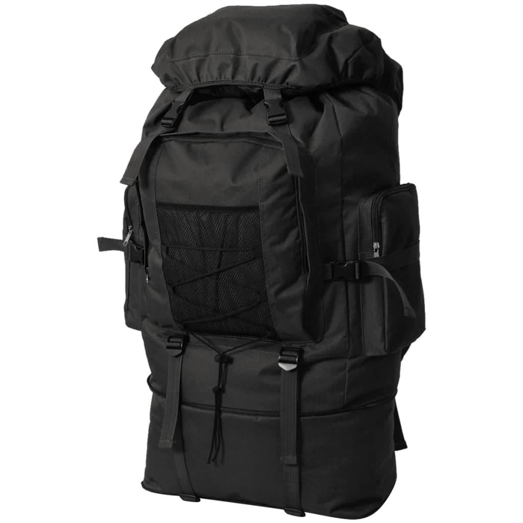vidaXL Batoh v army stylu XXL 100 l černý