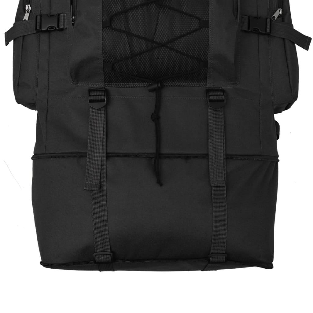 Nahrbtnik Vojaški Stil XXL 100 L Črne Barve