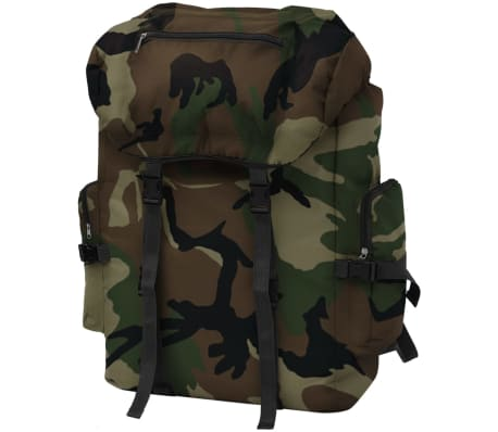 vidaXL Army-Style Backpack 65 L Camouflage[1/7]