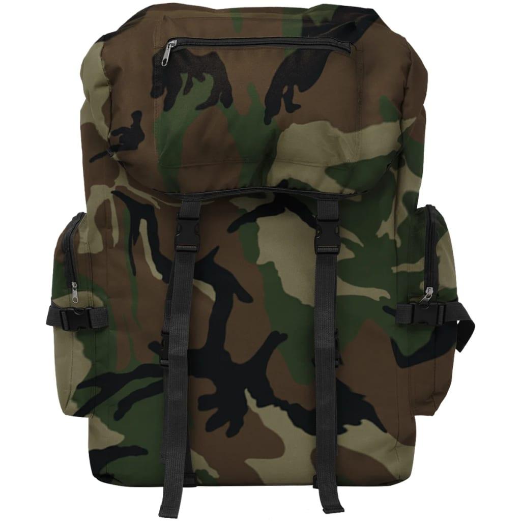 Nahrbtnik Vojaški stil 65 L Kamuflažne Barve