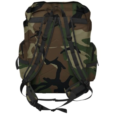 vidaXL Army-Style Backpack 65 L Camouflage[3/7]