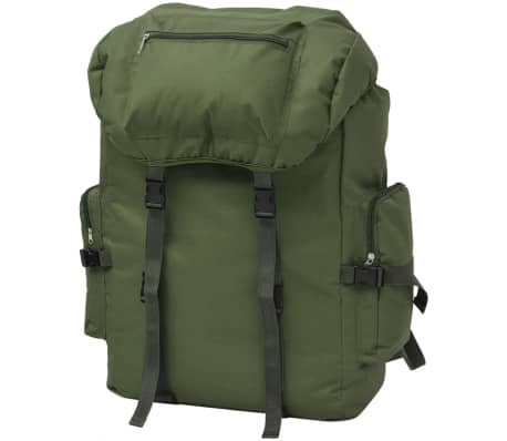 vidaXL Army-Style Backpack 65 L Green[1/7]