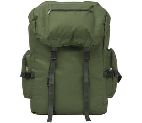 vidaXL Militaristinio stiliaus kuprinė, 65 l, žalia[2/7]