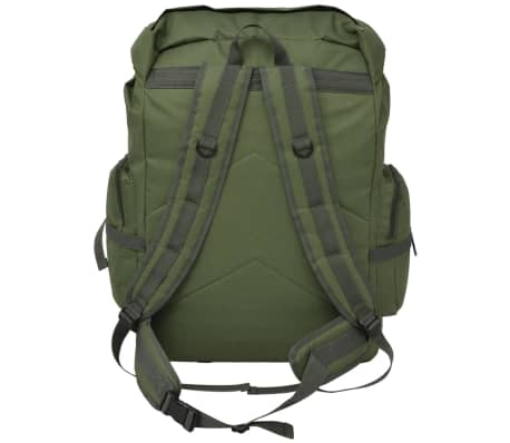 vidaXL Army-Style Backpack 65 L Green[3/7]