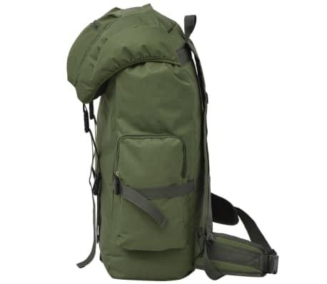 vidaXL Militaristinio stiliaus kuprinė, 65 l, žalia[4/7]