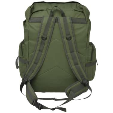 vidaXL Militaristinio stiliaus kuprinė, 65 l, žalia[3/7]