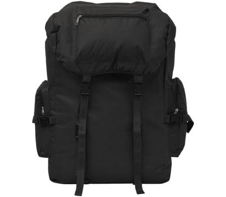 vidaXL Militaristinio stiliaus kuprinė, 65 l, juoda[2/7]