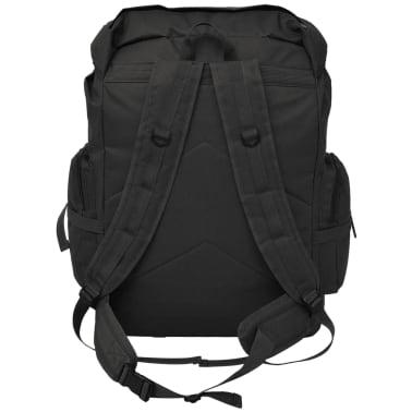vidaXL Militaristinio stiliaus kuprinė, 65 l, juoda[3/7]