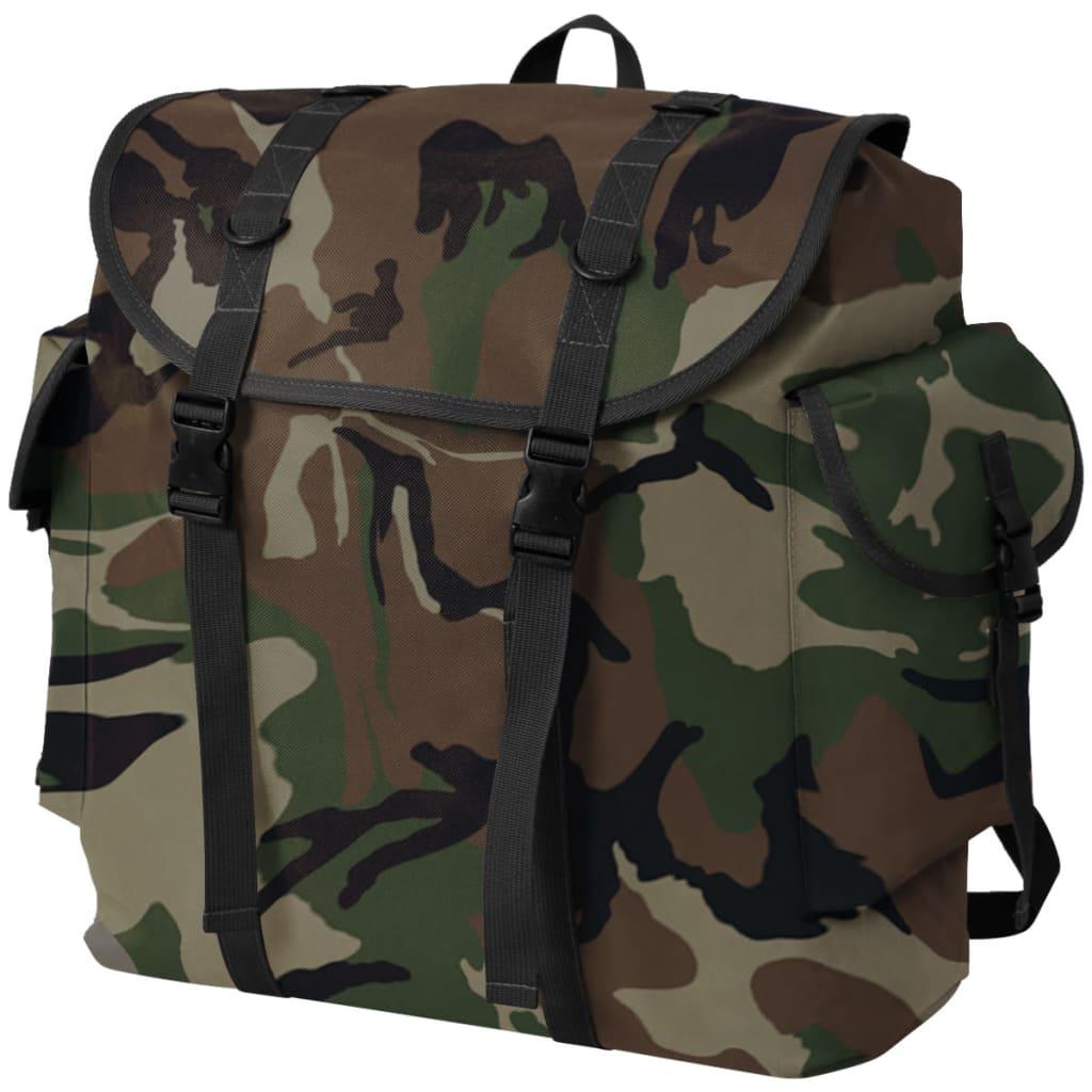 vidaXL Batoh v army stylu 40 l maskáčový