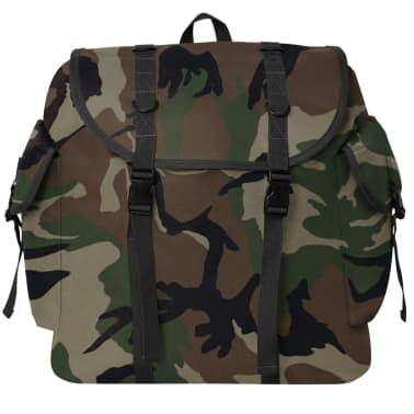 vidaXL Militaristinio stiliaus kuprinė, 40 l, kamufliažo spalvos[2/5]