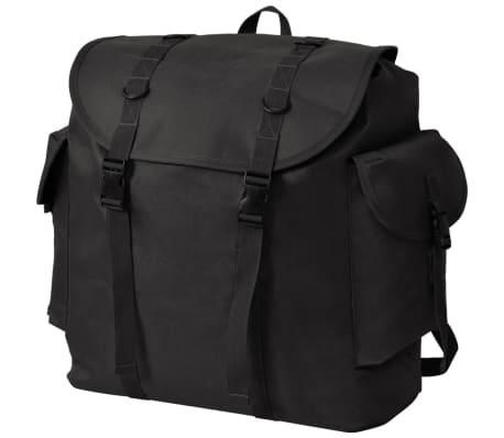 vidaXL Kariško stiliaus kuprinė, 40 l, juoda