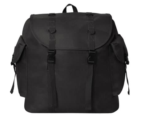 vidaXL Mochila estilo ejército 40 L negra[2/5]