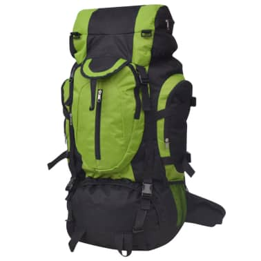 vidaXL Hiking Backpack XXL 75 L Black and Green[1/7]