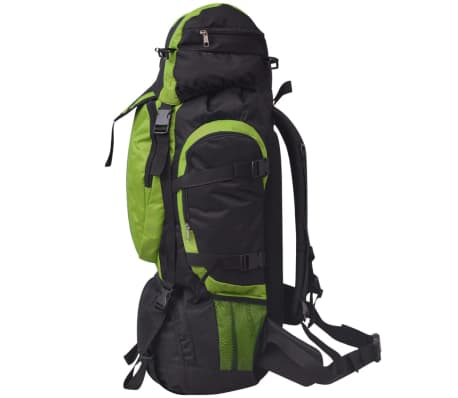 vidaXL Hiking Backpack XXL 75 L Black and Green[3/7]