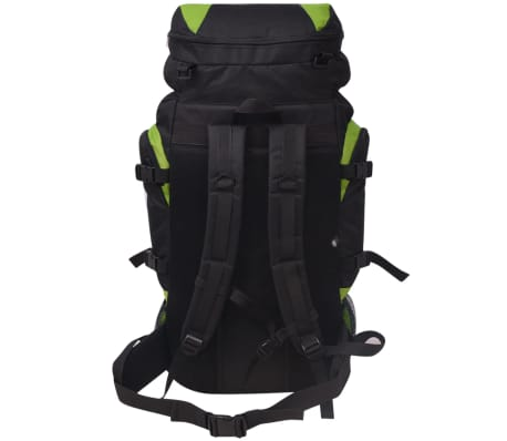 vidaXL Hiking Backpack XXL 75 L Black and Green[4/7]