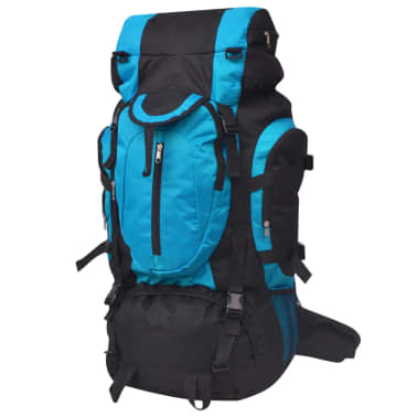 vidaXL Hiking Backpack XXL 75 L Black and Blue[1/7]
