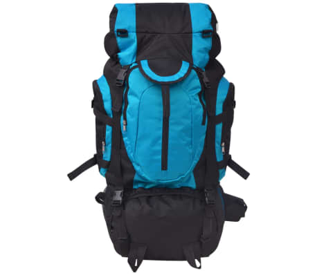 vidaXL Hiking Backpack XXL 75 L Black and Blue[2/7]
