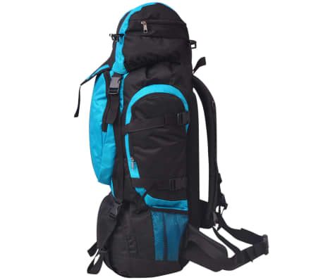 vidaXL Hiking Backpack XXL 75 L Black and Blue[3/7]