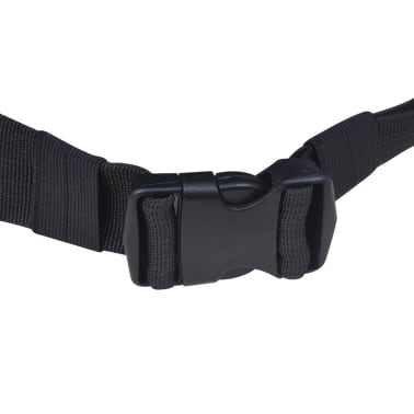 vidaXL Hiking Backpack XXL 75 L Black and Blue[5/7]