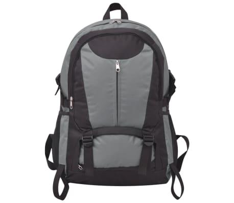 vidaXL Turistinė kuprinė, 40 l, juoda ir pilka[2/8]