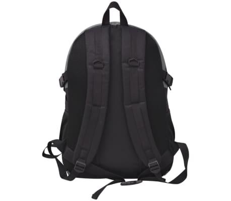 vidaXL Turistinė kuprinė, 40 l, juoda ir pilka[4/8]