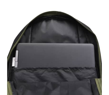 vidaXL School Backpack 40 L Black and Camouflage[7/9]
