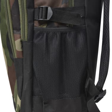 vidaXL School Backpack 40 L Black and Camouflage[6/9]
