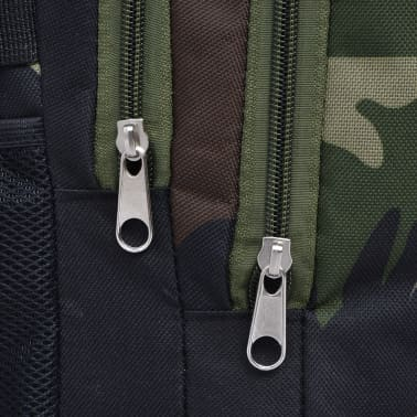 vidaXL School Backpack 40 L Black and Camouflage[8/9]